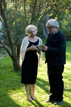 "Simon Curtis directs Michelle Williams on the set of ""My Week With Marilyn.''"